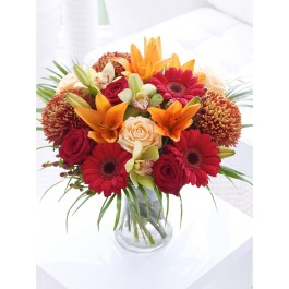 Rose and Cymbidium Orchid Hand-tied