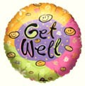 Get Well Happy Faces Balloon