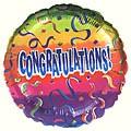 Congrats Rainbow Balloon