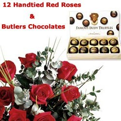 12 Red Roses & Chocolates