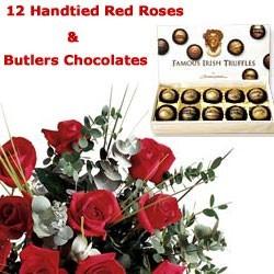 12 Red Roses & Chocolates