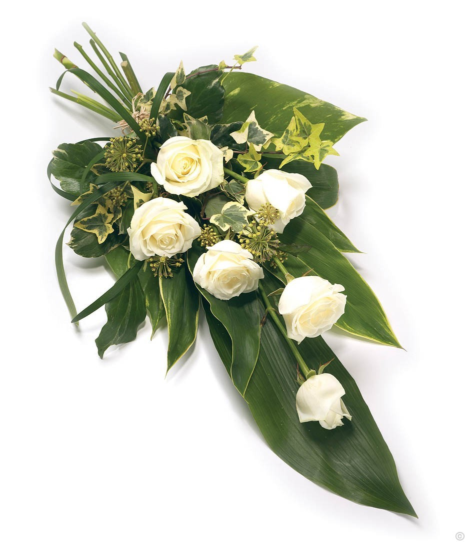 Funeral flowers free delivery send funeral arrangements dublin ireland 6 rose sheaf white izmirmasajfo