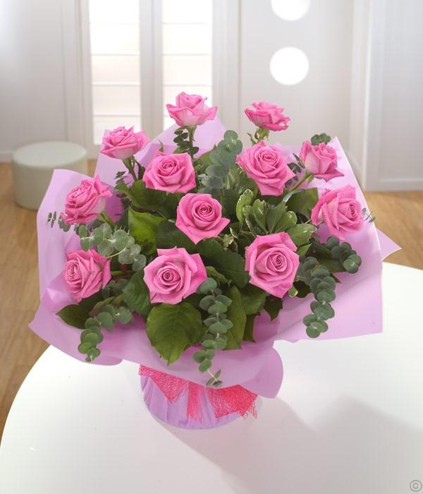 A Dozen Pale Pink Roses