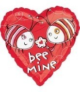 Bee Mine Happy Valentines Day Balloons