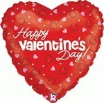 Happy Valentines Day - Pink and Red Hearts