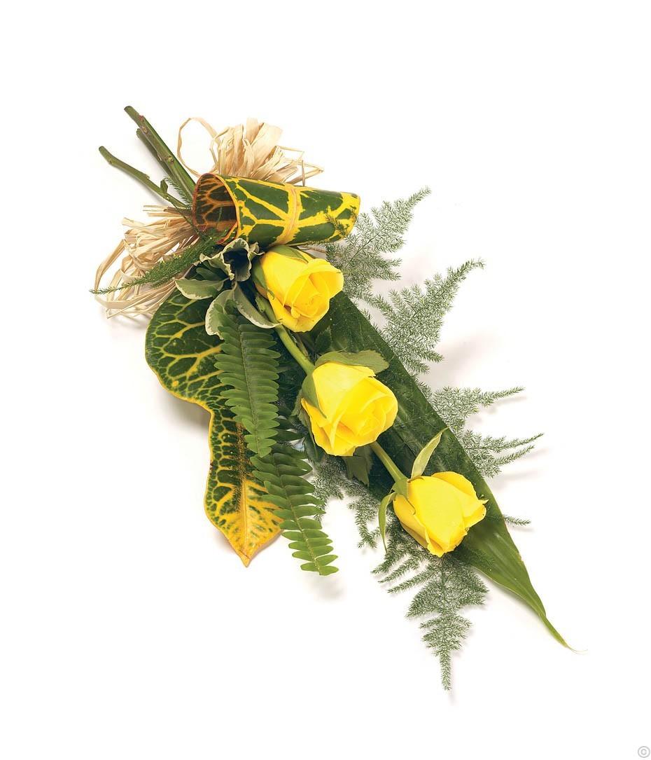 3 Rose Sheaf - Yellow