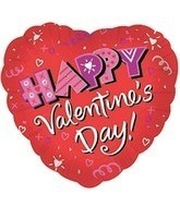 Happy Valentines Day Heart Balloon
