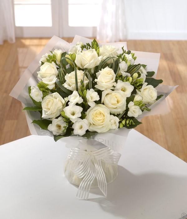 Innocence White Rose & Freesia