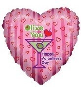 Olive You Happy Valentines Day Balloons