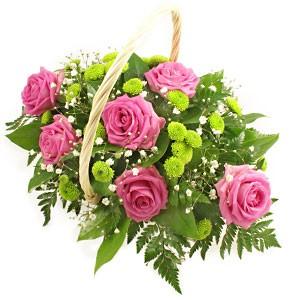 Pink & Lime Flower Basket