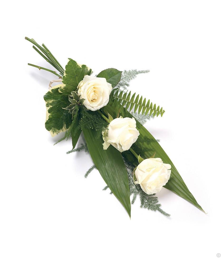 3 Rose Sheaf- White